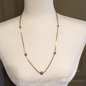 Avon gold chain with beads